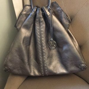 Michael Kors Metallic Silver Bag